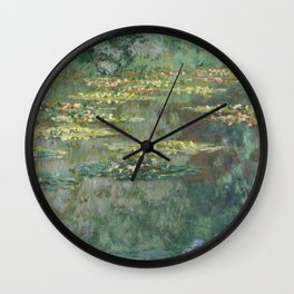 Water Lily Pond Claude Monet Wall Clock