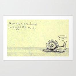 Snail Milk Art Print