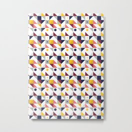 Geometric shapes retro pattern Metal Print