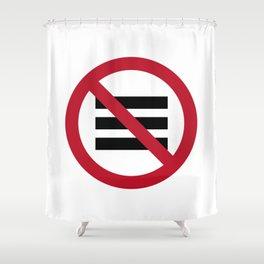 No Hamburger bar Shower Curtain
