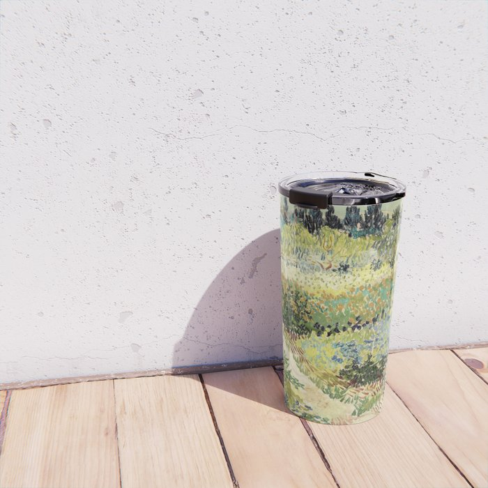 Vincent Van Gogh : Garden at Arles Travel Mug