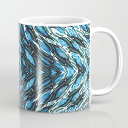 Kaleidoscope Waves Watercolor Painting Coffee Mug