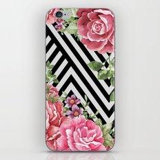 flowers geometric iPhone Skin
