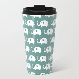Elephants in love (turquoise) Travel Mug