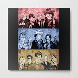 Doctor Who - Three Colours Who Metal Print