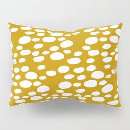 Monstera Leaf Hole Pattern - mustard yellow Pillow Sham