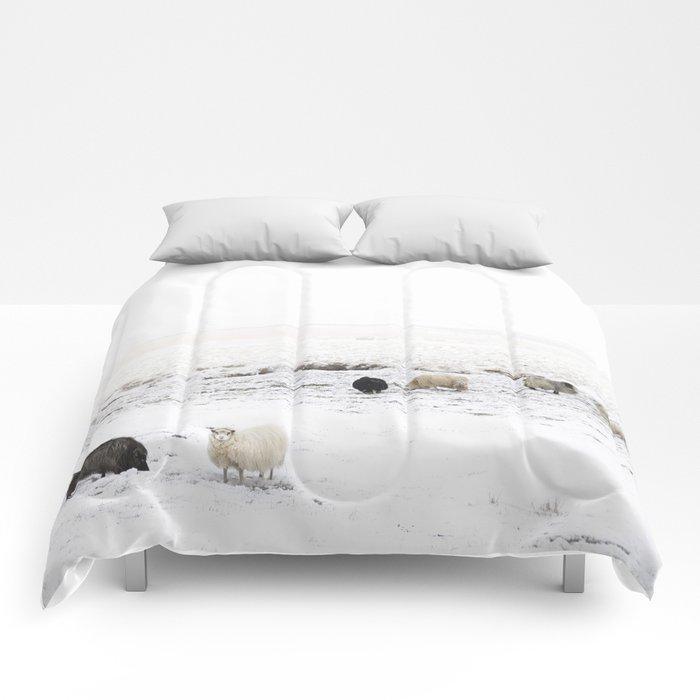 """Icelandic Sheep Iiii Comforters by Vanessa Quijano - Queen: 88"""" x 88"""""""
