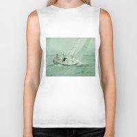 sail Biker Tanks featuring Sail by Mary Kilbreath