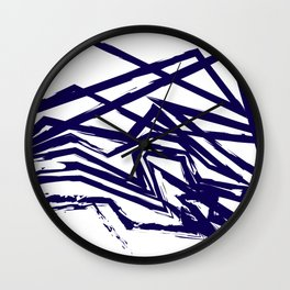 Brush Line Pattern Wall Clock