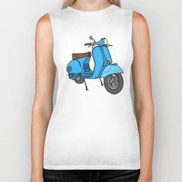 Blue motor scooter (vespa) Biker Tank