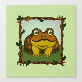 The Little Toad 2 Canvas Print