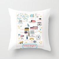 maryland Throw Pillows featuring Frederick, Maryland by Eine Kleine Design Studio