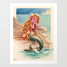 Classic Fairy Tale Mermaid Art Print