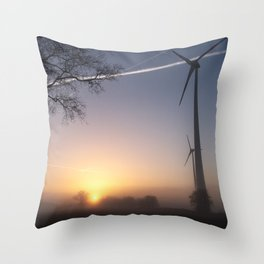 Airlines in Sunrise Throw Pillow