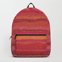 Fuzzy Sunset Stripes Backpack