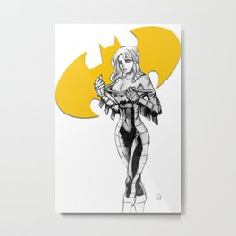 Batgirl Stephanie - Gold Metal Print