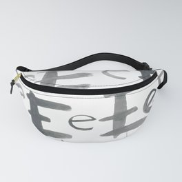 Watercolor E's - Grey Gray Fanny Pack