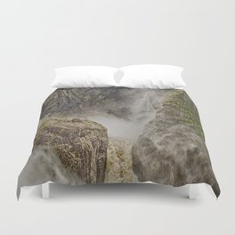 Beautiful waterfall in the rainforest Duvet Cover