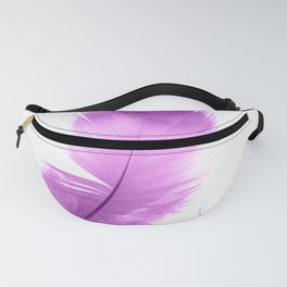 pink feather Fanny Pack