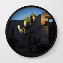 natural light cactus Wall Clock