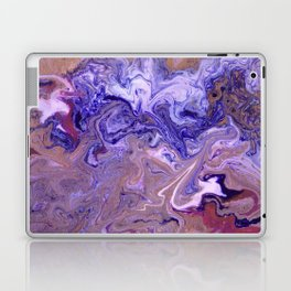 Purple Marble Swirls Laptop & iPad Skin