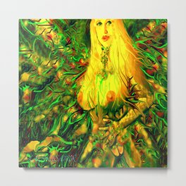 Art nude fairy wood nymph ladykashmir  Metal Print