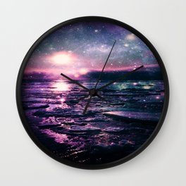 Mystic Waters Mermaid Gradient Wall Clock