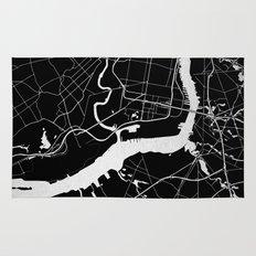 Philadelphia - Black and Silver Rug