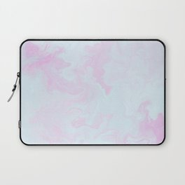 Abstract teal magenta pink watercolor marble pattern Laptop Sleeve
