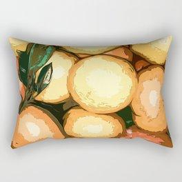 Mandarins and persimmons Rectangular Pillow