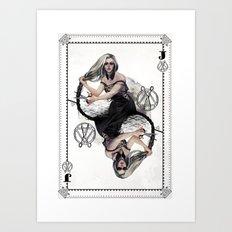 Jack of Scissors Art Print