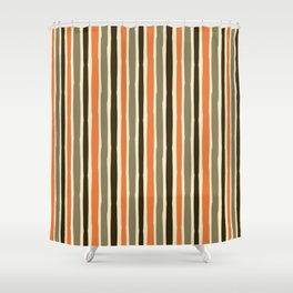 Custom Multicolor Striped Pattern Shower Curtain
