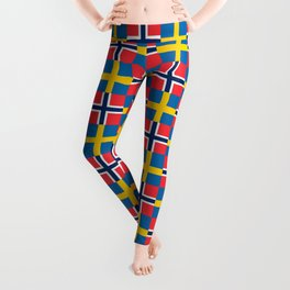 Mix of flag: norway and sweden Leggings