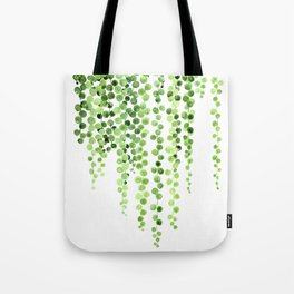 Watercolor string of pearls illustration Tote Bag