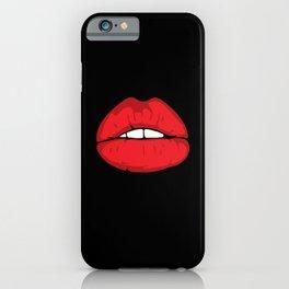 face laugh teeth grimace grimace face lip iPhone Case