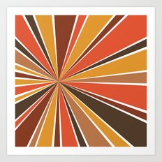 70's Star Burst Art Print