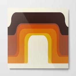 Mid-Century Modern Meets 1970's Orange Rainbow Metal Print