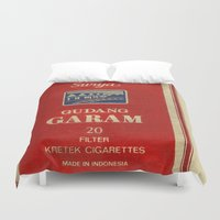 cigarette Duvet Covers featuring Surya - Vintage Cigarette by Fernando Vieira