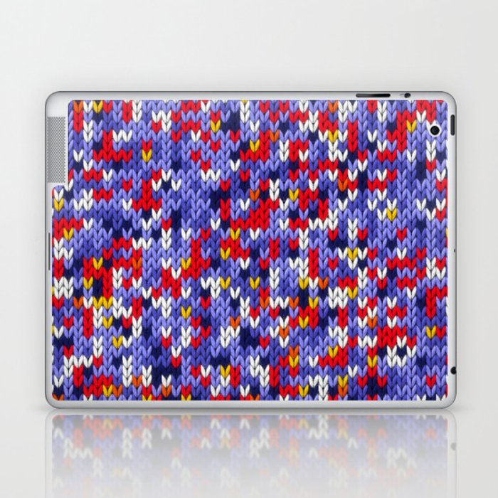 Knitted multicolor pattern 2 Laptop & iPad Skin