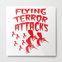 Mosquito Insect Comic Flying Terror Funny Blood Sucker Gift idea Metal Print