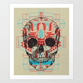 Skull Native Art Print