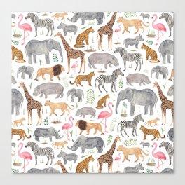 Safari Animals Canvas Print