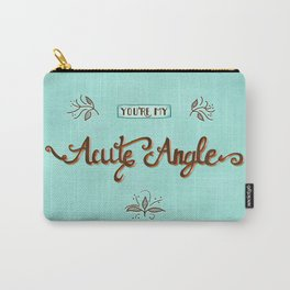 Acute Angle Carry-All Pouch