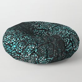Turquoise Snake Skin Floor Pillow