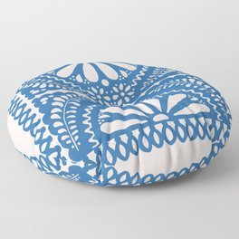 Fiesta de Flores Blue Floor Pillow