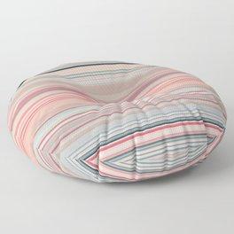 Pink Peach Pastel Stripe Design Floor Pillow