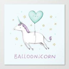 Balloonicorn Canvas Print