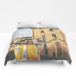 Raccoons on the road trip Comforters
