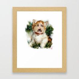 merry cagemas  Framed Art Print