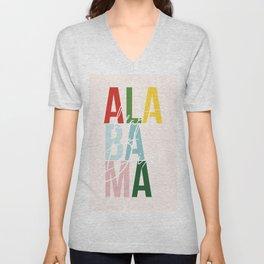 "Alabama ""Heart of Dixie"" Color Unisex V-Neck"